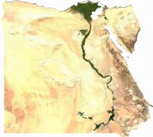 Egipto - Vista vía satélite