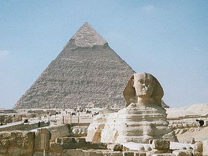 Viajes a Egipto: Pirámide de Jafra y la Gran Esfinge de Giza.