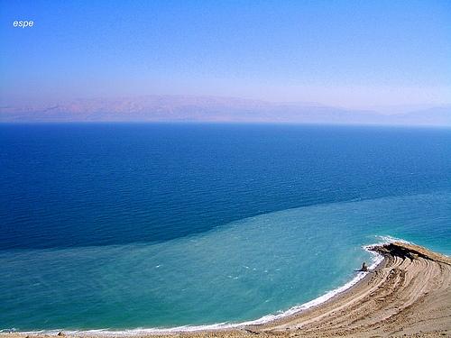 Vista aérea del mar muerto