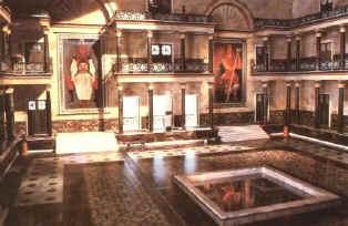 Biblioteca de Alejandría: vista de una de las salas.