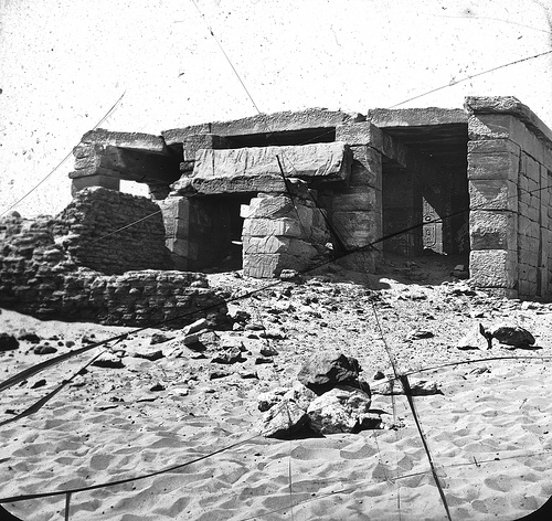 Restos de los templos de nubia antes de que se construyera el museo.