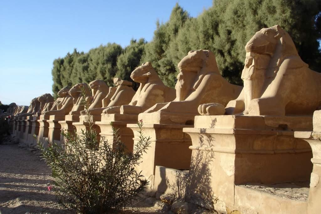 Detalles del Templo de Opet en Karnak